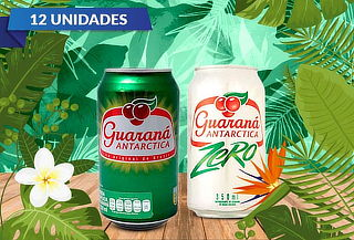Pack de 12 Bebidas Guarana, Normal o Zero 350ml