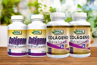2 Frascos de Colágeno Hidrolizado FNL, 120 0 300 Cápsulas