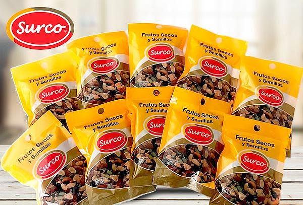 Pack Saludable Frutos Secos y Semillas Surco, 10 unidades.