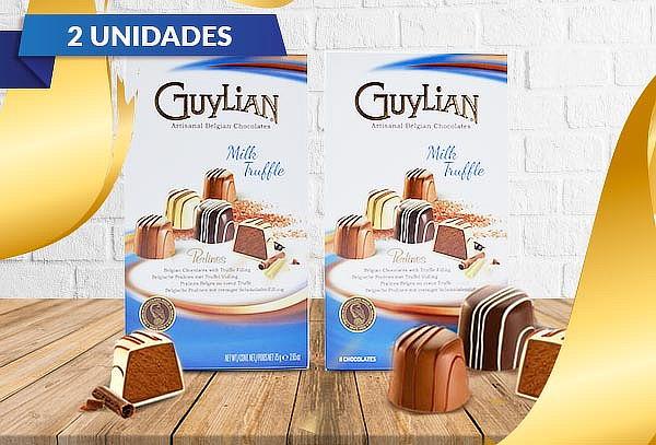 2 Cajas Bombones Belgas Perlines Milk Truffle Guylian 75 gr