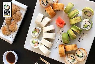 100 Piezas de Sushi + Bebida en Neo Sushi Fusión