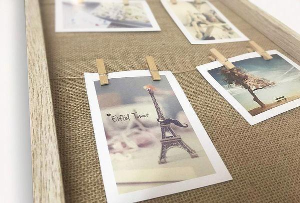 Marcos para Fotos con Pinzas de Madera