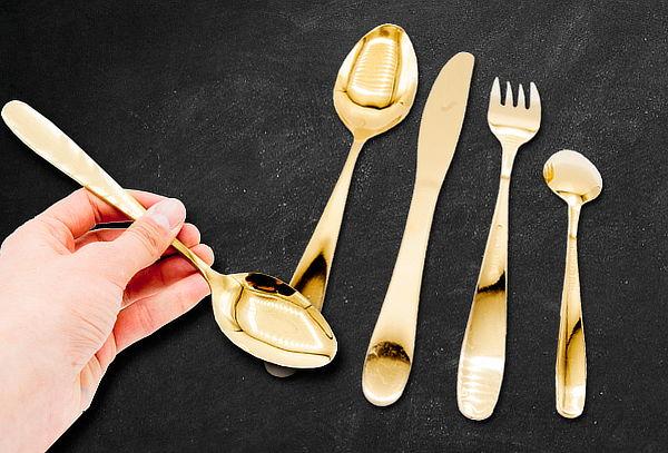 Juego de Cubiertos 24 Piezas Color Dorado