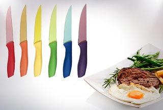 Set 6 Cuchillos para Carne de Diferentes Colores