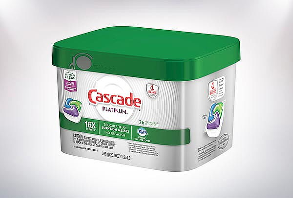 Detergente lavavajilla Cascade Platinum Action 36 Cápsulas.