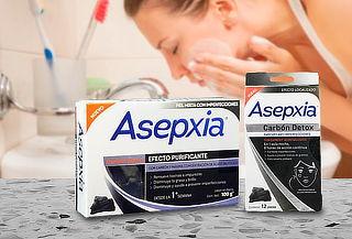 Pack Asepxia: Jabones + Antiinperfección línea Carbón Detox