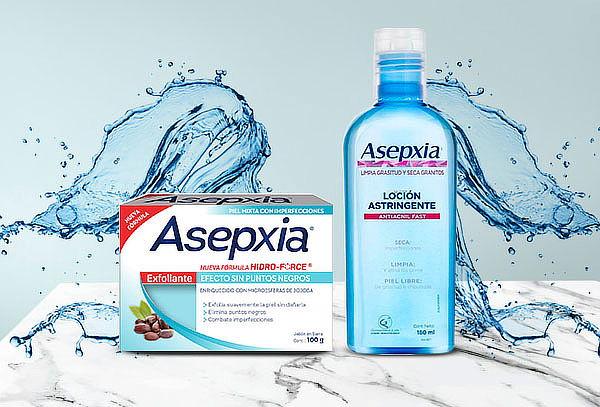 Packs de jabones + loción astringente Asepxia