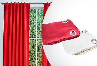 Cortina de Paño con Argolla, Color Rojo