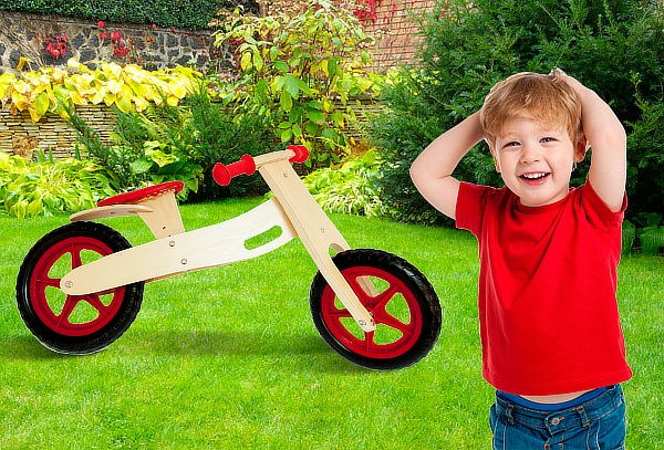 Bicicleta de Madera para Niños