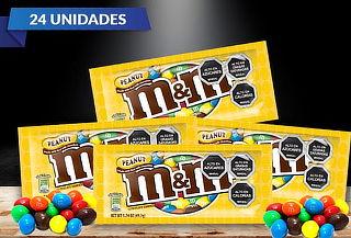 Pack de 24 Bolsas de Chocolates M&M Amarillo 49grs