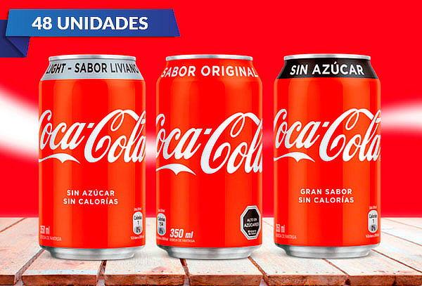 Pack de  48 Latas de Coca-Cola 350 cc a Elección