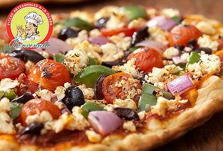 Pizza Familiar con opción a palitos de ajo y despacho