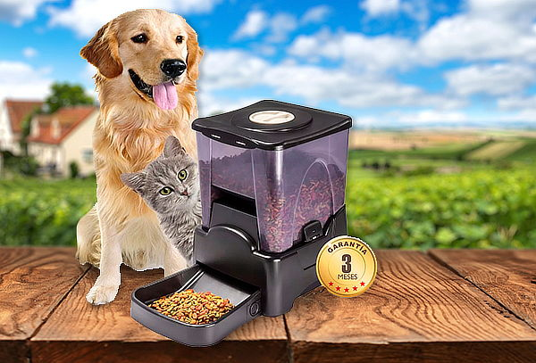 Dispensador de Comida Automático para Mascotas