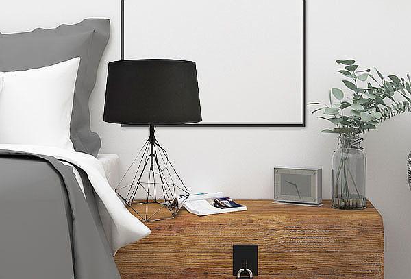 Lámpara para Velador Geomética Negra