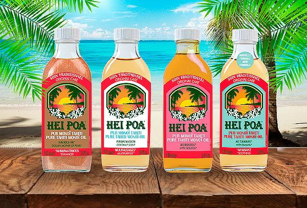 Aceite de Monoi Hei Poa 100 ml, Aroma a Elección