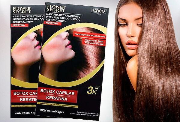 Pack de 2 Máscaras Bótox Keratina para Cabello Flower Secret