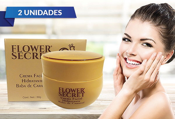 Pack de 2 Cremas Facial de Caracol Flower Secret