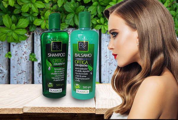 Shampoo y Bálsamo de Ortiga y Keratina Biokerasse