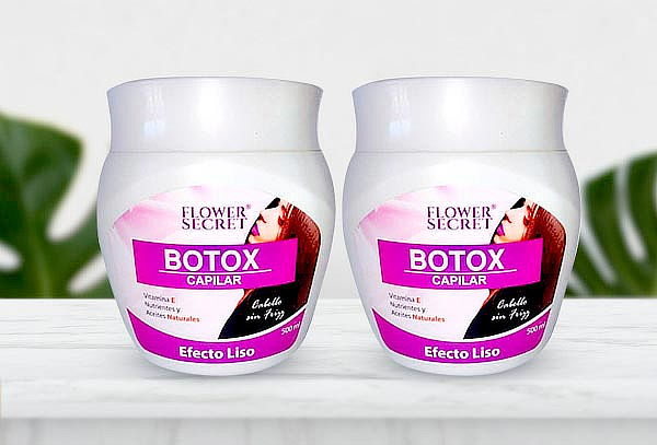 Pack de 2 Botox Capilar Efecto Liso Flower Secret