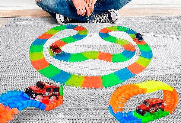 Autopista flexible Led, 220 piezas