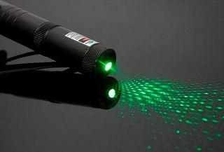 Puntero láser verde 1000mw batería, caleidoscopio, llaves
