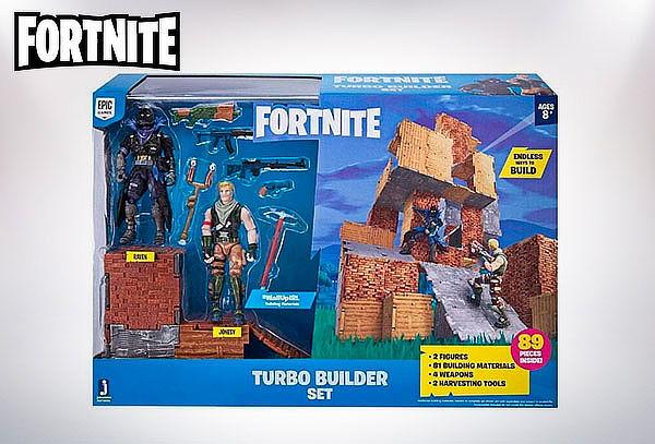Pack Figuras Set Turbo Builder Fortnite