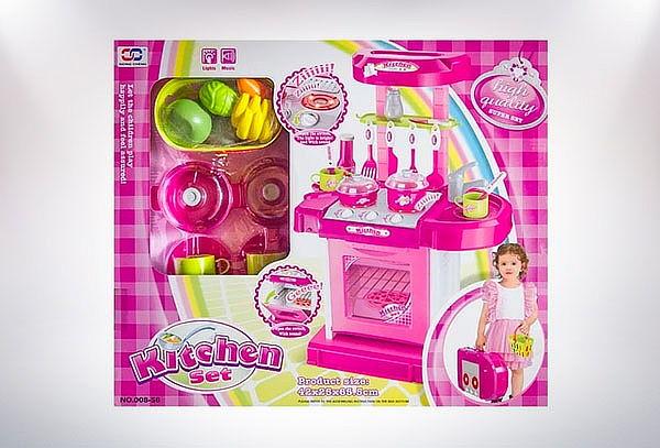 Cocina Infantil Princesa + Maleta de 25 Piezas