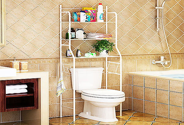 Rack para Baño con estantería 3 niveles