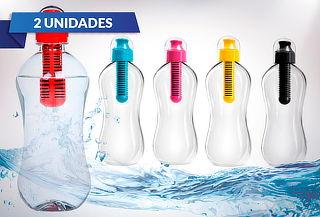 Pack 2 Botellas Filtro de Carbono Activo, Color a Elección