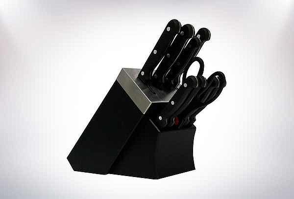 Set de 8 Cuchillos + Tijera + Base