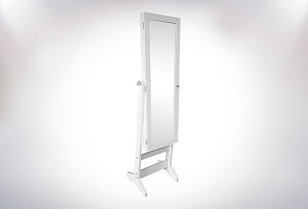 Mueble Espejo Joyero Color Blanco