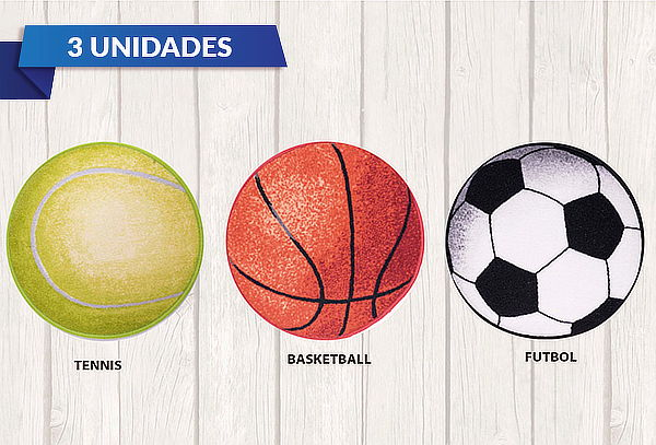 Pack 3 alfombras sport