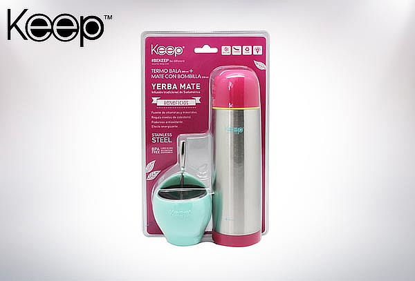 Set Mate 230 ml + Termo Bala Keep 500 ml, color a elección.