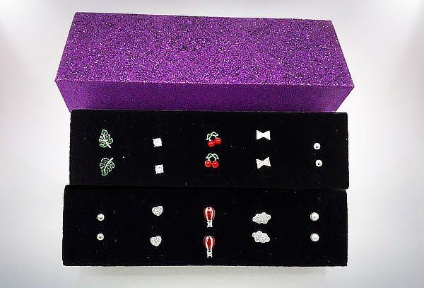Box de 5 Aros Plata 925 con Cristales