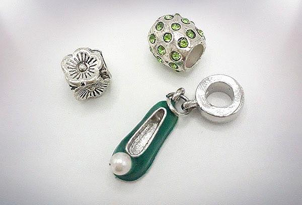 Set 3 Charms con Cristales tipo Swarovski