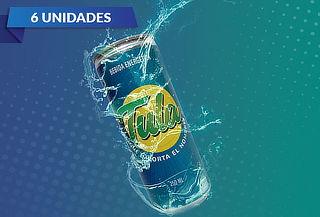 Pack 6 latas de bebida energética Tula, 250 ml.