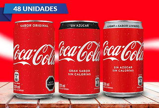 Pack de 48 Coca Cola de 220ml a elección