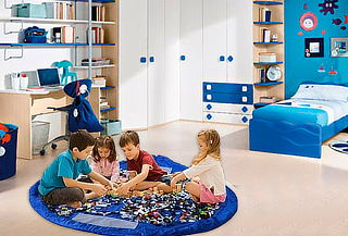 Saco Organizador de Juguetes Color Azul