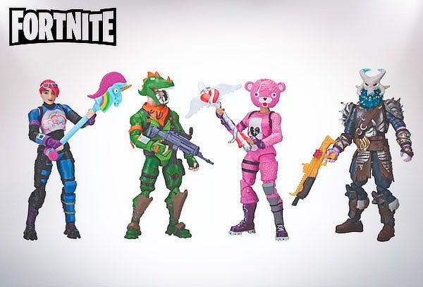 Pack de 4 Figuras Squad Mode Fortnite