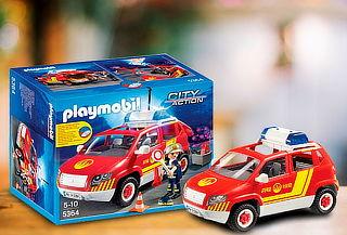 Auto Jefe Bombero Luces y Sonidos Playmobil