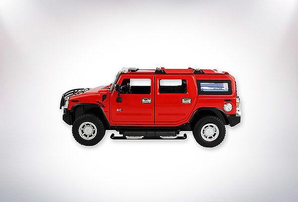 Hummer H2 Rojo 1:24