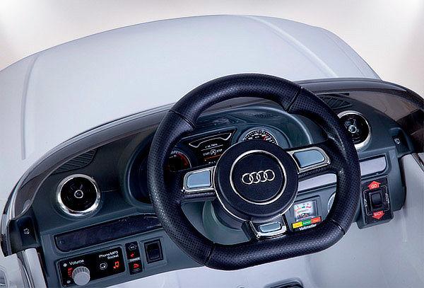 Auto Audi a Batería para Niños Blanco
