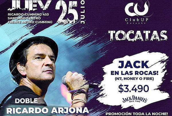 25 de Julio! Doble RICARDO ARJONA + Tragos + Comida
