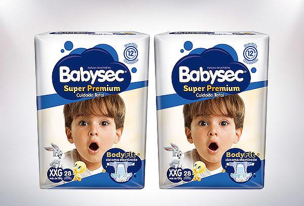 Pack 2 Bolsas de pañales BabySec Super Premium