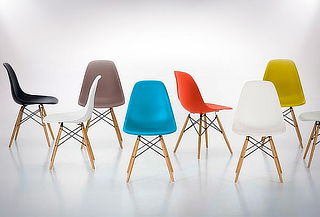 Pack 4 Sillas Eames Wood color a elección