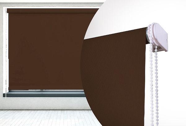 Cortina Roller Blackout 3 pasadas color Chocolate