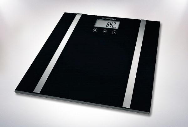 Pesa Digital con Medidor de IMC, Color Negro