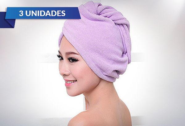 Pack de 3 Toallas Turbantes de Microfibra para Cabello