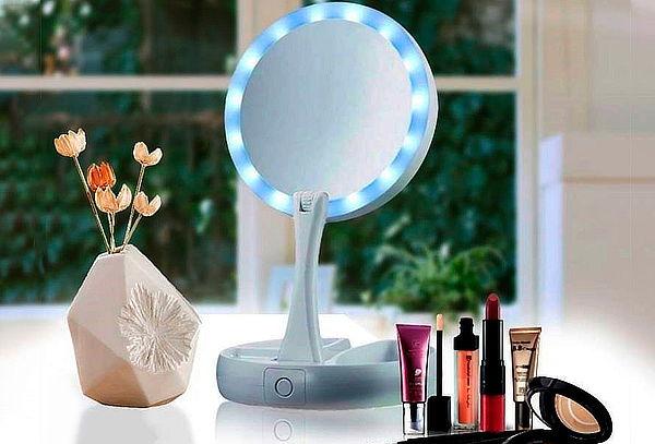 Espejo LED para Maquillaje Flexible Redondo