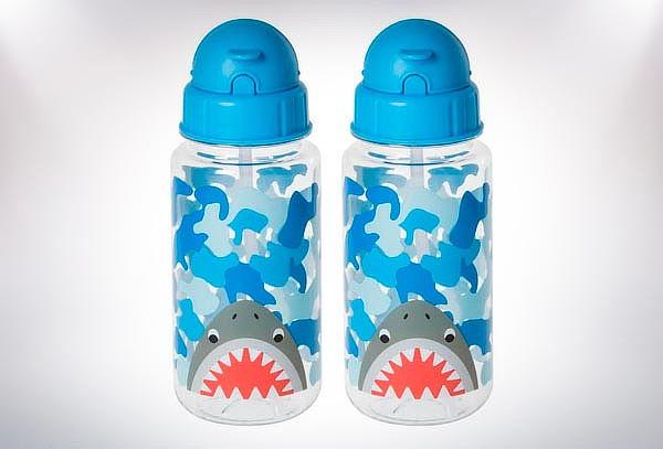 2 Botellas BPA Rosada o Azul para bebé 350 ML